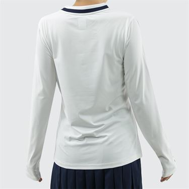 Fila Heritage Long Sleeve Top - White/Navy