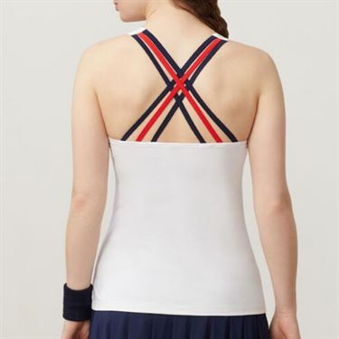 Fila Heritage Cami, White/Navy/Chinese Red