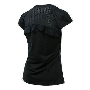 Fila Ruffle V Neck Tee - Black