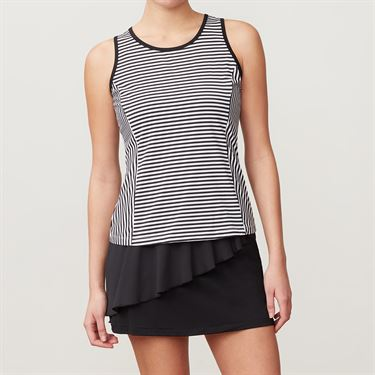 Fila Stripe Full Coverage Tank - Black Stripe/Black