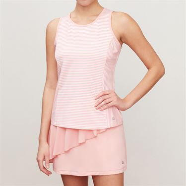 Fila Stripe Full Coverage Tank - Light Pink Stripe/Light Pink