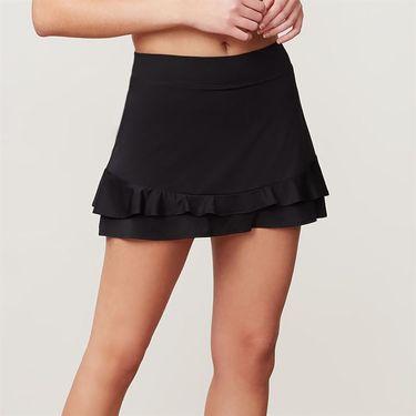 Fila Double Ruffle 13.5 Inch Skirt - Black