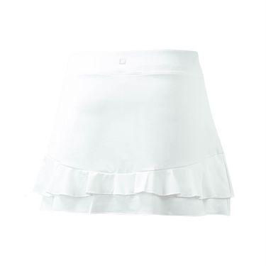 Fila Double Ruffle 13.5 Inch Skirt - White