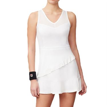 Fila Ruffle Dress Womens White TW191744 100