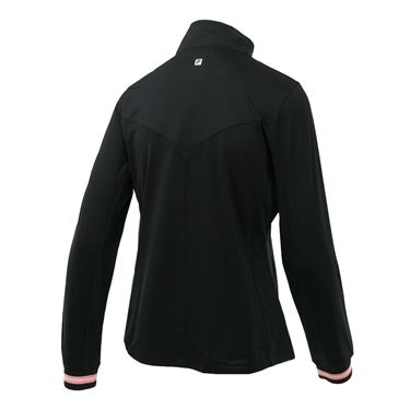 Fila Stripe Jacket - Black/Light Pink Stripe