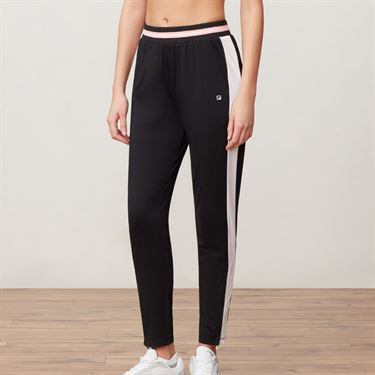 Fila Stripe Pant - Black/White/Light Pink