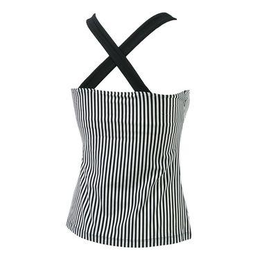 Fila Stripe Halter Tank - Black Stripe/Black