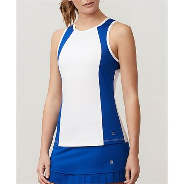 Fila Aqua Full Coverage Tank - White/French Blue