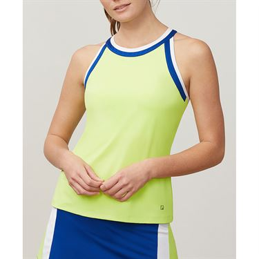 Fila Aqua Halter Tank - Sharp Green/French Blue/White