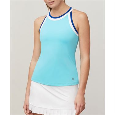 Fila Aqua Halter Tank - Blue Curacao/White/French Blue