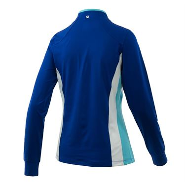 Fila Aqua Half Zip Jacket - French Blue/Blue Curacao/White