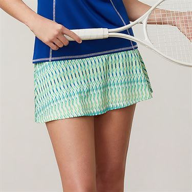 Fila Aqua Flare Skirt - French Blue Print/White