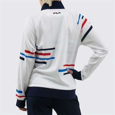 Fila PLR Jacket Womens White/Peacoat TW911945 100