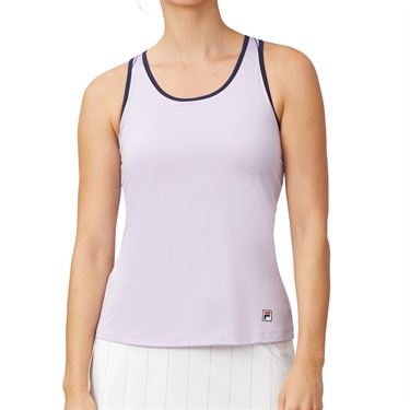 Fila Heritage Racerback Tank Womens Pastel Lilac/Navy TW932787 591