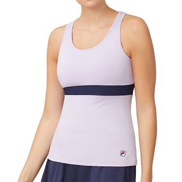 Fila Heritage Cami Tank Womens Pastel Lilac/Navy TW932788 591