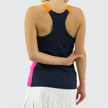 Fila Awning Colorblocked Tank Womens Navy/Fuchsia Purple/Orange Peel TW933484 412