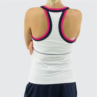 Fila Awning Halter Tank Womens White/Navy/Fuchsia Purple TW933485 100