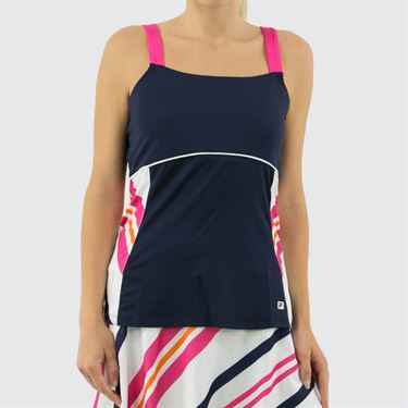 Fila Awning Cami Tank Womens Navy/White/Fuchsia Purple TW933486 412