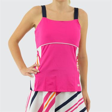 Fila Awning Cami Tank Womens Fuchsia Purple/Awning Stripe/Navy/White TW933486 677