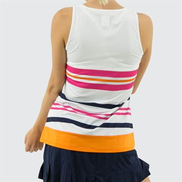 Fila Awning Full Coverage Tank Womens White/Orange Peel TW933488 100