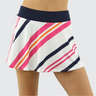 Fila Awning Stripe Flare Skirt Womens Awning Stripe/Navy/White TW933492 101