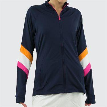 Fila Awning Jacket Womens Navy/White/Fuchsia Purple/Orange Peel TW933649 412