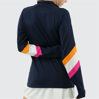 Fila Awning Jacket Womens Navy/White/Fuchsia Purple/Orange Peel TW933649 412