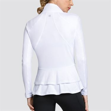 Tail Essentials Double Flounce Peplum Jacket - Chalk