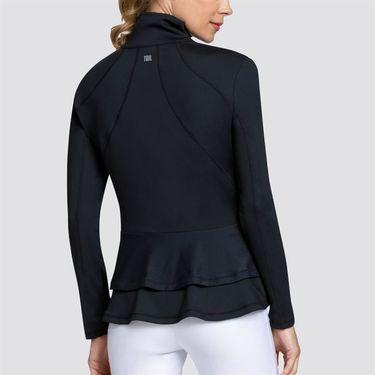 Tail Essentials Double Flounce Peplum Jacket - Onyx