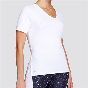 Tail Essentials V Neck Short Sleeve Top - White