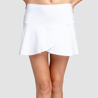 Tail Core Pleated Flounce 13.5 inch Skirt - White