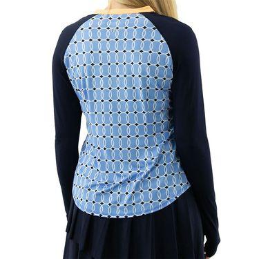 Jofit Ocean Breeze Long Sleeve UV Zipper Crew Shirt Womens Blue Tennis Balls UT0039 BTB