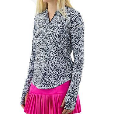 Jofit Rojito Long Sleeve Zipper Shirt Womens Crocodile Print UT0039 CRO