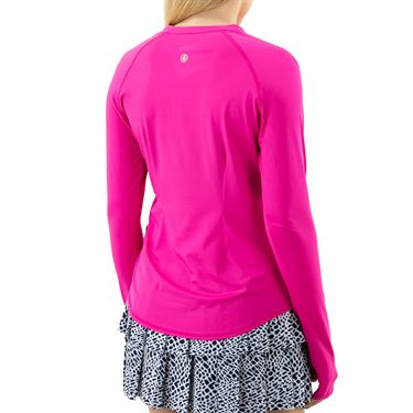 Jofit Rojito Long Sleeve Zipper Shirt Womens Fluorescent Pink UT0039 FLP