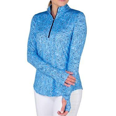 Jofit Baileys UV Long Sleeve Mock Shirt Womens Bailey Print UT105 BCP