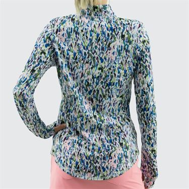 Jofit Sherry UV 1/4 Zip Top - Sherry Print