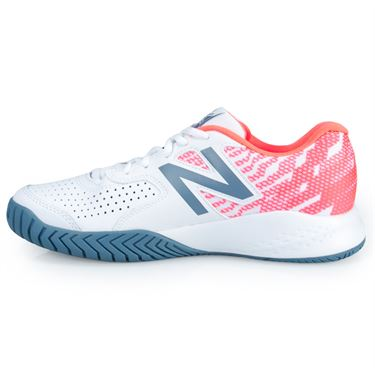 New Balance WCH696 (D) Womens Tennis Shoe - White/Orange