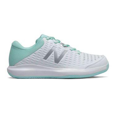 New Balance WCH696B4 Womens Tennis Shoe B Width White/Bali Blue WCH696B4 B