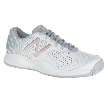 New Balance WCH696G3 (B) Womens Tennis Shoe - White/Rose Gold