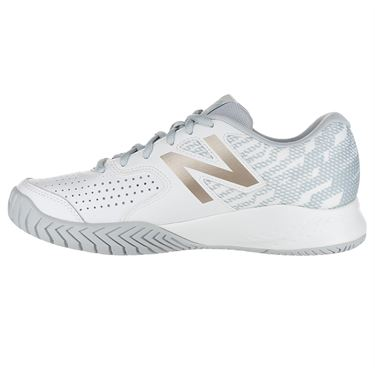 New Balance WCH696G3 (D) Womens Tennis Shoe - White/Rose Gold