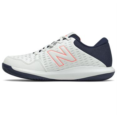New Balance 696v4 (D) Womens Tennis Shoe - White/Black/Pink