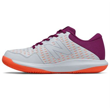 New Balance 696v4 (D) Womens Tennis Shoe - White/Mulberry
