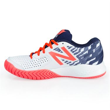 New Balance WCH696S3 (D) Womens Tennis Shoe - Pigment/Coral