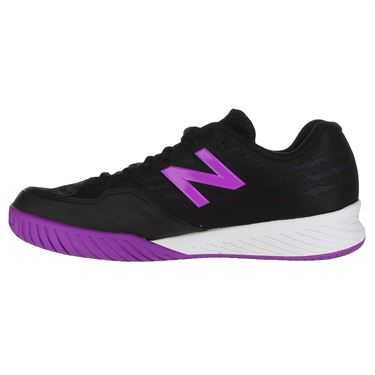 New Balance WCH896B2 (D) Womens Tennis Shoe - Black/Voltage Violet