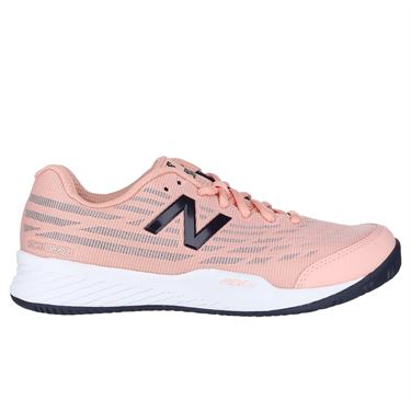 New Balance WC 896 (D) Womens Tennis Shoe - White Peach/Pigment