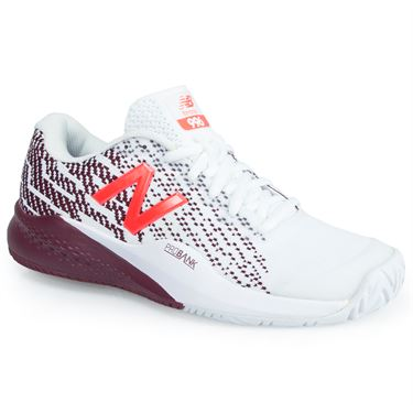New Balance WCH996C3 (B) Womens Tennis Shoe - White/Oxblood