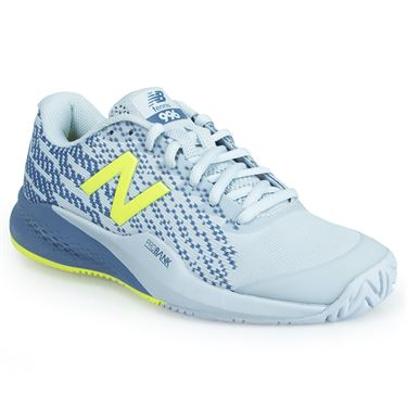 New Balance WCH996G3 (B) Womens Tennis Shoe - Light Porcelain Blue/ Solar Yellow