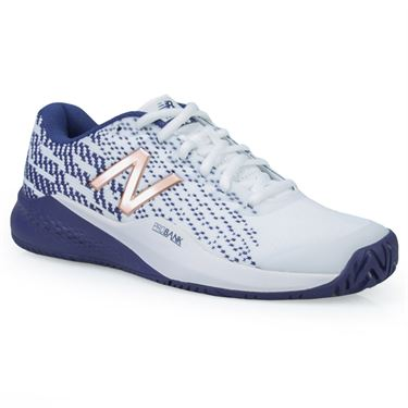 New Balance 996 (B) Womens Tennis Shoe - White/Wild Indigo