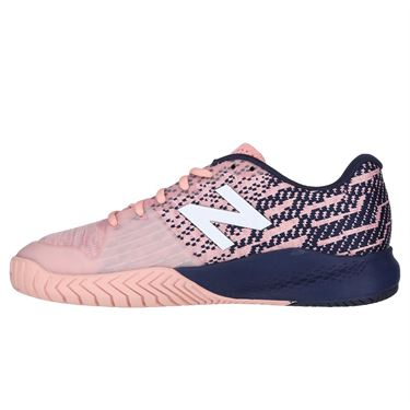 New Balance WC 996 (B) Womens Tennis Shoe - Light Pink/Navy/White