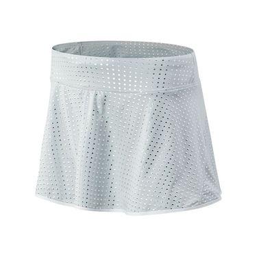 New Balance Printed Rally Court Skirt Womens Light Aluminum WK01445 LAN